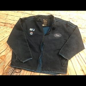 HTF Vintage Karl Kani men's XL racing denim jacket